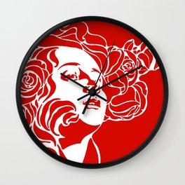 """Koloman (Kolo) Moser """"Girl's head"""" (3) Wall Clock"""