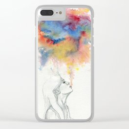 Dare to Unravel Clear iPhone Case