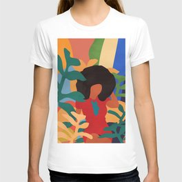 Get lost in nature and you will find yourself  #art print #abstract art T-shirt