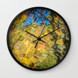 AUTUMN IMPRESSION WEST VIRGINIA FALL LEAVES REFLECTION LANDSCAPE Wall Clock