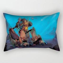 Rust and Water Rectangular Pillow