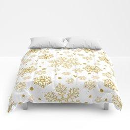 Golden snowflakes Comforters