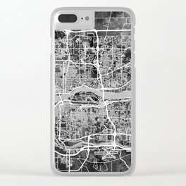 Quad Cities Street Map Clear iPhone Case