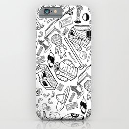 Seinfeld Pattern (White Background) iPhone Case