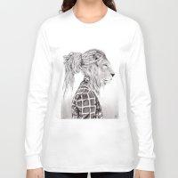 reggae Long Sleeve T-shirts featuring Reggae Lion by SABIN.M