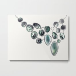 Baubles in Tourmaline Metal Print