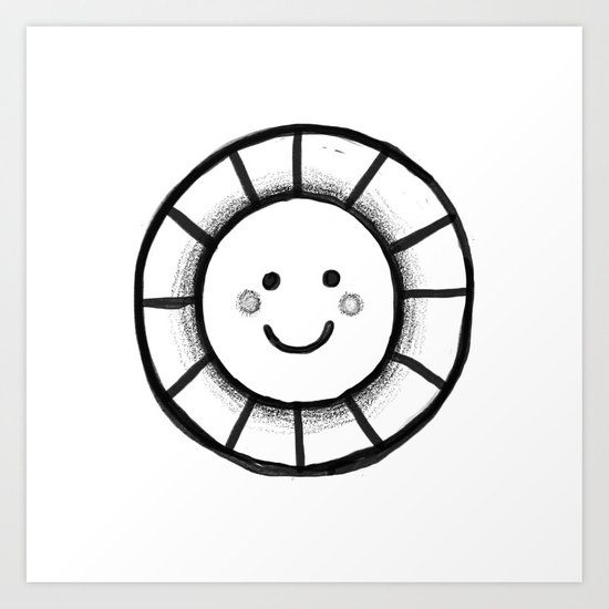 Sunny time smiley face Art Print