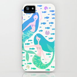 Koi Mermaids – Turquoise Ombré Palette iPhone Case
