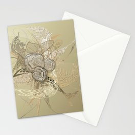 50 Shades of lace Gold Gold Stationery Cards