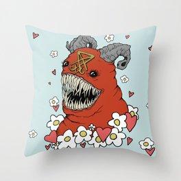 Lovey Devil Throw Pillow