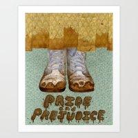 pride and prejudice Art Prints featuring Pride and Prejudice by Elizabeth A