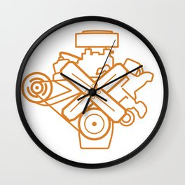 273 Commando - Engine Outline Wall Clock