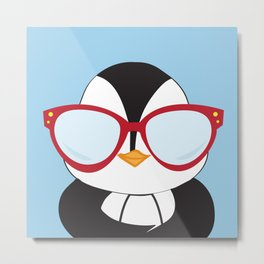 Cool Penguin Metal Print