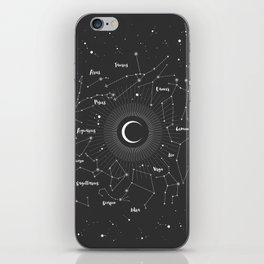 Constellations Map iPhone Skin