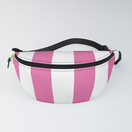 Icing Pink Cupcake and White Cabana Stripes Fanny Pack