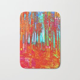 Trippy Forest Bath Mat