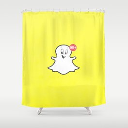 the friendly ghost Shower Curtain