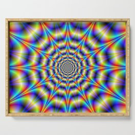 Psychedelic Wheel Serving Tray
