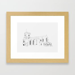 St Mary's - sketch Framed Art Print