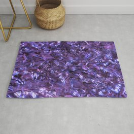 Abalone Shell | Paua Shell | Sea Shells | Patterns in Nature | Violet Tint | Rug