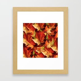 Autumn Leaves Abstract - Painterly Framed Art Print