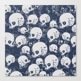 Skull Doodle Canvas Print