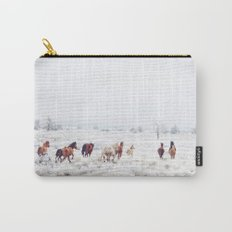 Winter Horses Carry-All Pouch