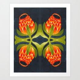 Floral symmetry 1. Art Print