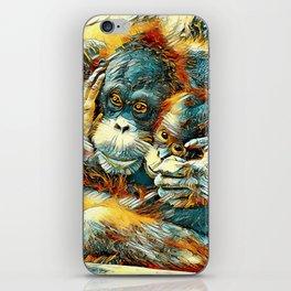 AnimalArt_OrangUtan_20170603_by_JAMColorsSpecial iPhone Skin