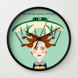 """It's not always pretty to be pretty """"Hair Perm"""" Wall Clock"""