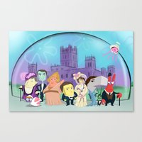 downton abbey Canvas Prints featuring Downton Abbey Under the Sea by Alyssa Bermudez