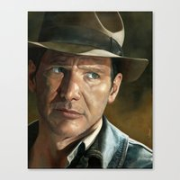 indiana jones Canvas Prints featuring Indiana Jones by scottmitchell
