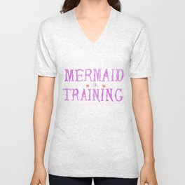 Mermaid in Training Unisex V-Neck