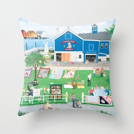 Dockside Bears Throw Pillow