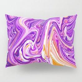 Purple Groovy Swirl Pattern Pillow Sham