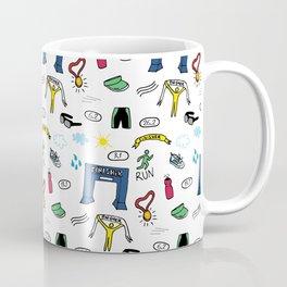 Running Doodles Coffee Mug