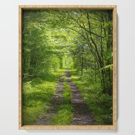 Trail Through Green Woods Serving Tray