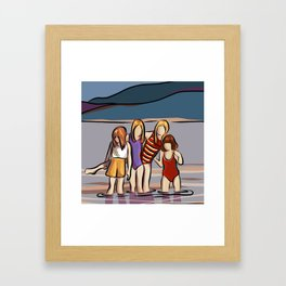 Cousins and the Lake Framed Art Print