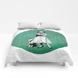Two dalmatians - humor Comforters