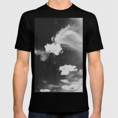 Cloudy Daze Black LARGE Mens Fitted Tee