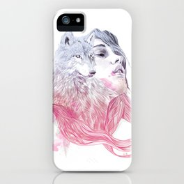 A Wolf in Girls Clothings iPhone Case