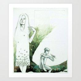 Mary on the Left Art Print