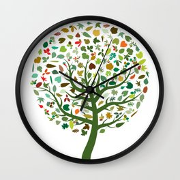Autumn Leaves - Tree Hugger Design Wall Clock