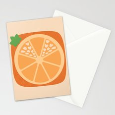 Orange Heart Stationery Cards