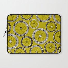 bike wheels chartreuse Laptop Sleeve