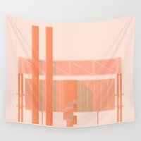 cigarette Wall Tapestries featuring Cigarette Factory by Peter Cassidy
