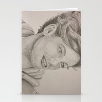 louis tomlinson Stationery Cards featuring Louis Tomlinson by vanessa
