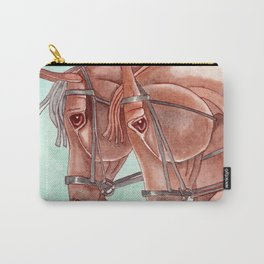 Horses On Fuchsite Moon Carry-All Pouch