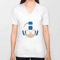 mega man V-neck T-shirts featuring Mega Man by Sport_Designs