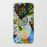 sticker iPhone & iPod Cases featuring Sticker Collage by Chris Klemens
